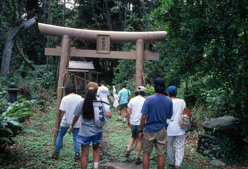 20年前の椎取神社鳥居